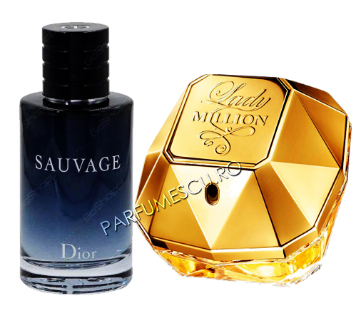 set cadou dior sauvage si paco rabanne lady million tester