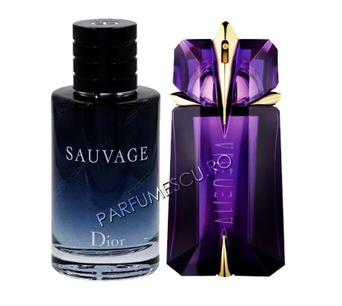 set cadou dior sauvage si thierry mugler alien tester