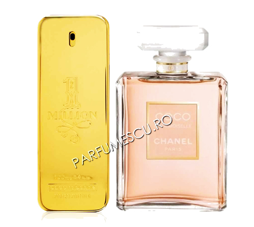 set cadou paco rabanne 1 million si coco chanel mademoiselle tester