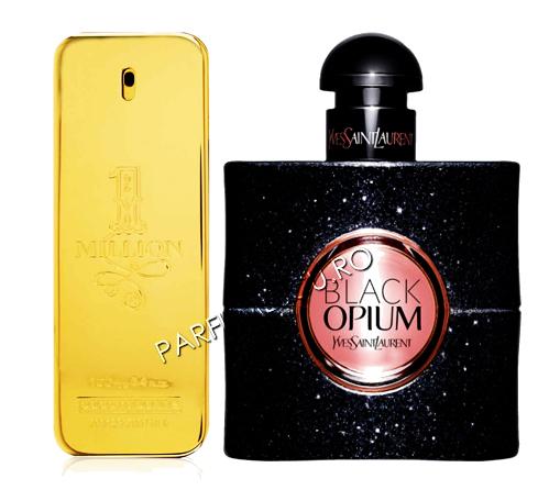 set cadou paco rabanne 1 million si yves saint laurent black opium tester