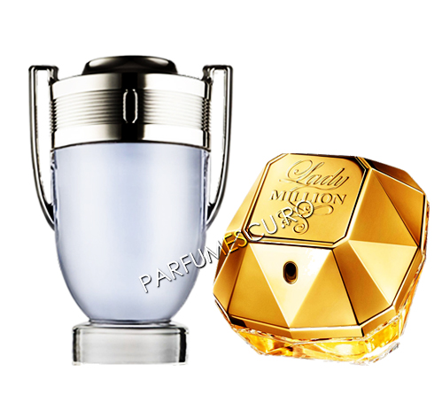 set cadou paco rabanne invictus si paco rabanne lady million tester