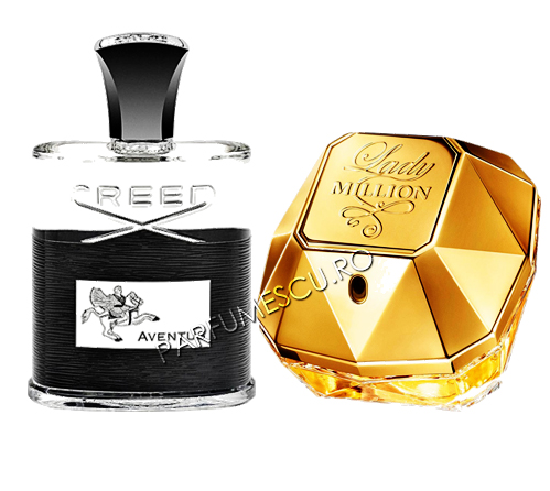 seturi cadou creed aventus si paco rabanne lady million tester